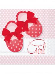 20 Serviettes en papier Baby Girl 33 cm