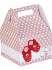 6 Petites boîtes en carton Baby Girl 10.5 cm