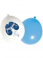 16 Ballons latex Baby Boy 30 cm