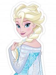 Feuille en sucre Elsa La Reine des Neiges™ 25 x 13 cm