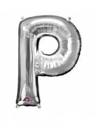 Ballon aluminium géant Lettre P argent 60 x 81 cm