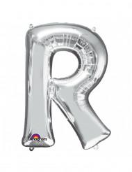 Ballon aluminium géant Lettre R argent 58 x 81 cm