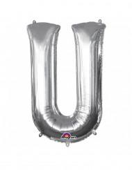 Ballon aluminium géant Lettre U argent 58 x 83 cm