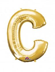 Ballon aluminium géant Lettre C or 63 x 81 cm