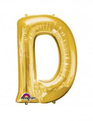 Ballon aluminium géant Lettre D or 60 x 83 cm