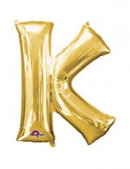 Ballon aluminium géant Lettre K or 66 x 83 cm