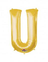 Ballon aluminium géant Lettre U or 58 x 83 cm