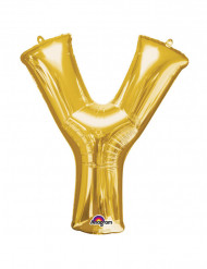 Ballon aluminium géant Lettre Y or 76 x 86 cm