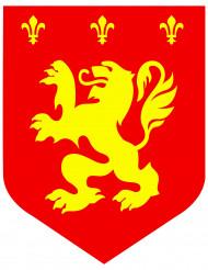 Décoration Médiéval lion rouge 30 cm