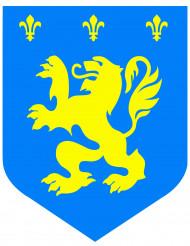 Décoration Médiéval lion bleu 30 cm
