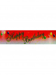 Banderole happy birthday rouge 0.16 x 2.44 m