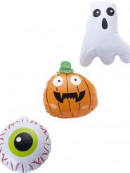 3 Ballons d'Halloween 15 cm