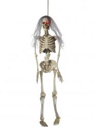 Décoration à suspendre animée mariée squelette luxe 170 cm Halloween