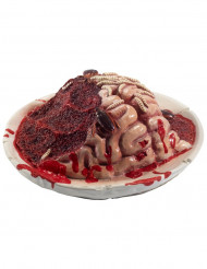 Décoration assiette cerveau en décomposition Halloween