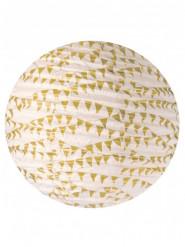 Lanterne faite à la main en lokta fanions dorés 40 cm