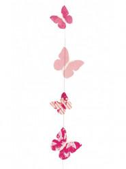 Décoration à suspendre lokta papillons 180 cm