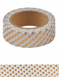 Washi tape triangles rose gold 10 m