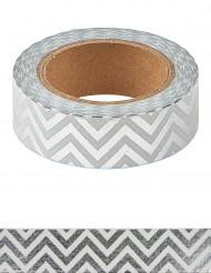 Washi tape chevrons argent 10 m