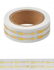 Washi tape flèches dorées 10 m