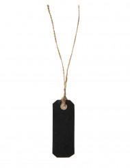 10 Marque places noirs avec cordon