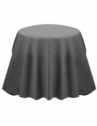 Nappe ronde grise opaque