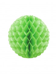 Boule en papier alvéolé vert 25 cm