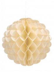 Boule en papier alvéolé ivoire 25 cm