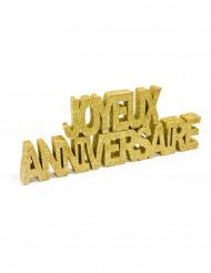 Deco table Joyeux anniversaire or