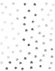 Confettis de table 18 ans argent