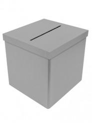 Urne en carton unie grise 25 cm