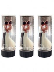 3 Canons à confettis blancs