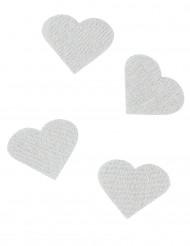 24 Confettis cœurs en lin