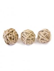 6 Petites boules de corde 3 cm