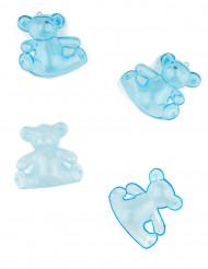 3 boîtes oursons en plastique bleu
