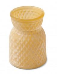 Petit vase jaune mat 10,5 cm
