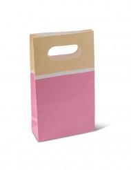 6 Sacs papier sorbet fraise 17,5 cm