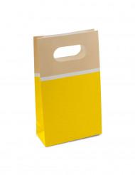 6 Sacs papier sorbet citron 17,5cm