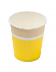 20 Gobelets en carton sorbet citron 200ml