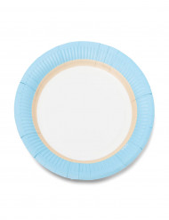 12 Petites assiettes en carton sorbet ice 18cm