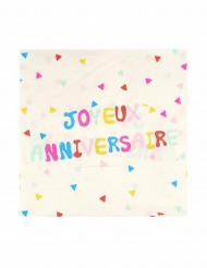 20 Serviettes en papier anniversaire Tutti Frutti 33 cm