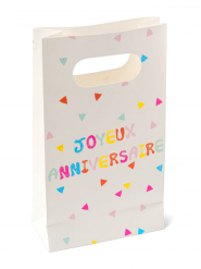 6 Pochettes d'anniversaire Tutti Frutti 18cm