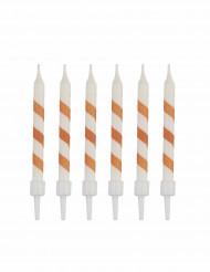 10 Bougies d'anniversaire sorbet pêche