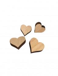 12 Décorations de table coeurs en bois