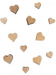 12 Mini cœurs en bois 2 et 3 cm