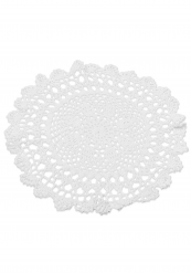 Napperon en crochet blanc 30 cm