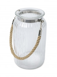 Lanterne en verre avec anse 18 cm