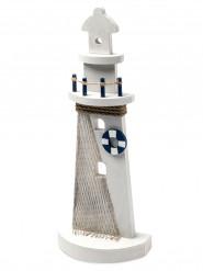 Phare déco marine et blanc 12 x 30cm