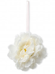Suspension pivoines blanches