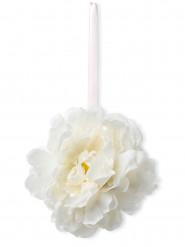 Suspension pivoines blanches en tissu 32 cm
