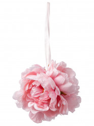 Suspension pivoines roses en tissu 32 cm